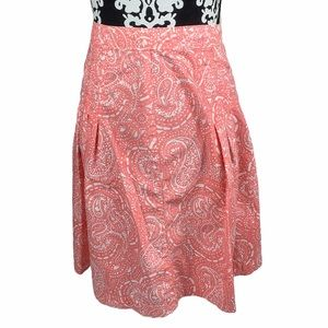GAP Skirt Paisley High Waisted Pink Pleated A Line